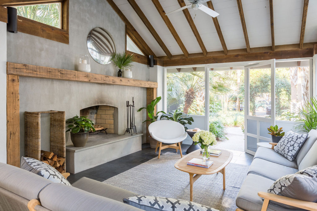 Boho theme living room