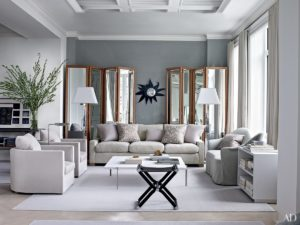 Gray living room.